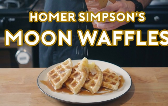 Binging with Babish makes Homer Simpson's Patented Space Age Out-Of-This-World Moon Waffles