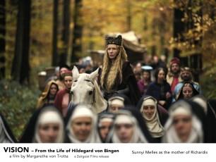 Sunnyi Melles as Richardis' mother in VISION. A film by Margarethe von Trotta. A Zeitgeist Films release.