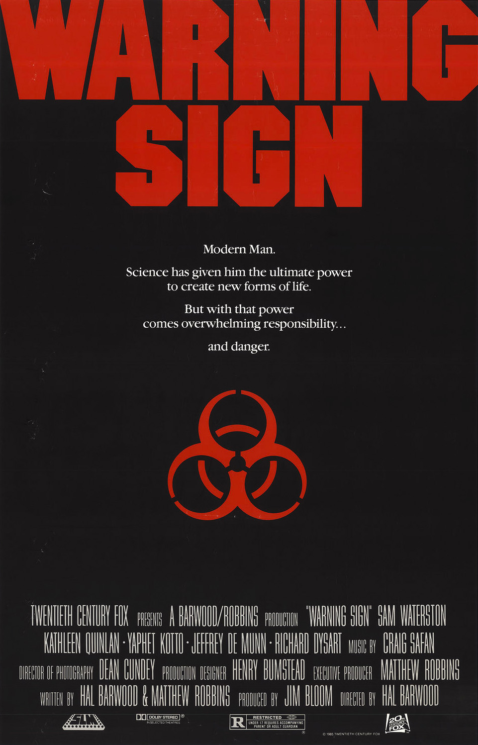 Gallery: Warning Sign (Scream Factory Blu-ray) Screenshots