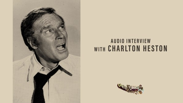 Earthquake Charlton Heston audio interview