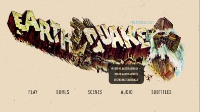 Earthquake theatrical cut audio menu