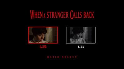 When a Stranger Calls Back aspect ratio menu