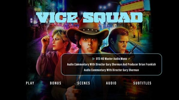 Vice Squad audio menu