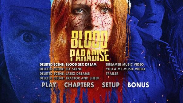 Blood Paradise Bonus Menu