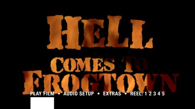 Hell Comes to Frogtown Blu-ray menu
