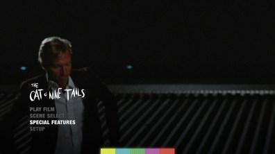 The Cat o' Nine Tails Blu-ray menu