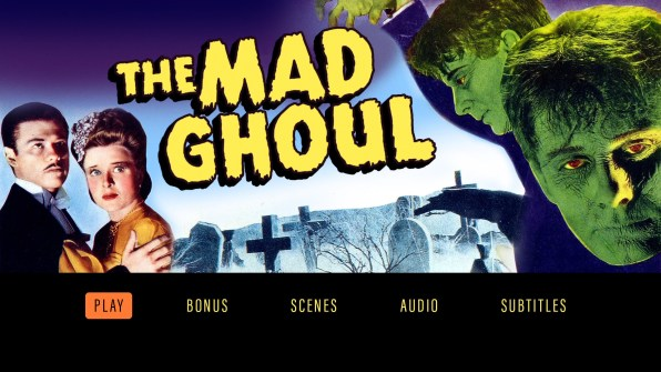 The Mad Ghoul Blu-ray menu