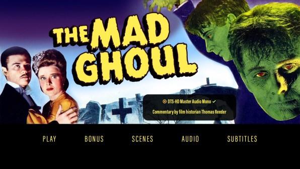 The Mad Ghoul audio menu