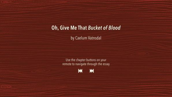 Essay by Caelum Vatnsdal