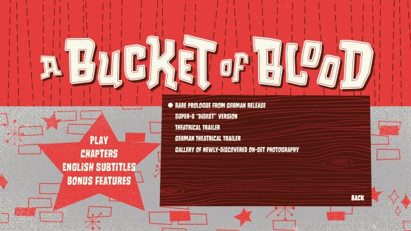 A Bucket of Blood Blu-ray Special Features Menu 02