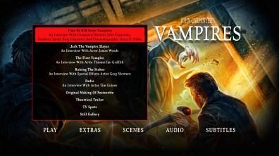 Vampires Blu-ray Bonus Menu