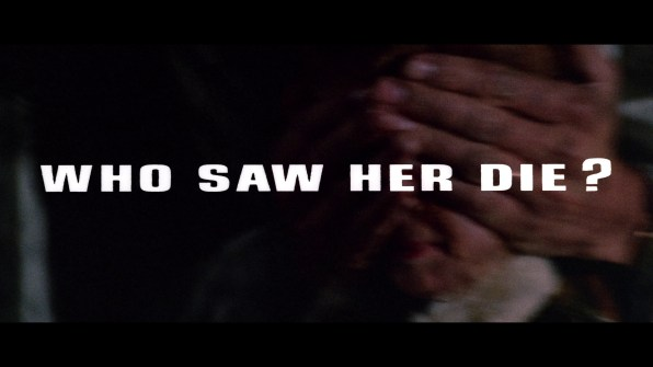 Who Saw Her Die? English trailer 2