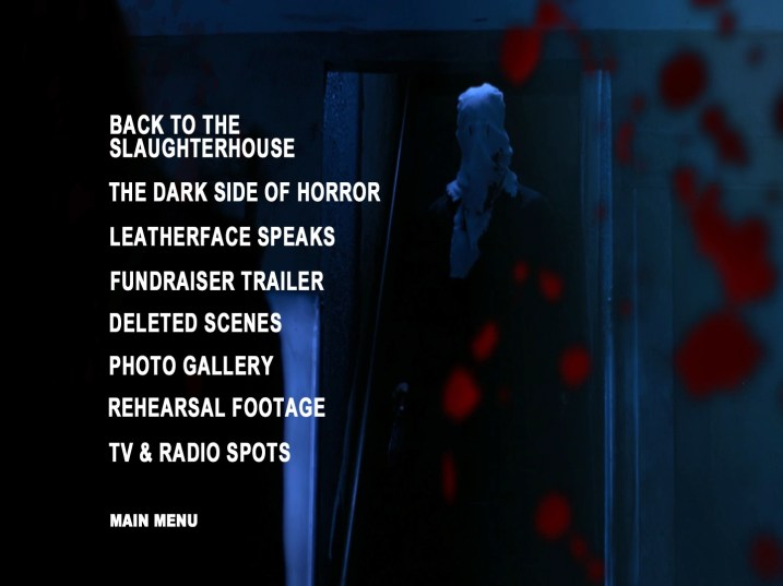 Malevolence Blu-ray Bonus Features Menu