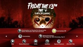 Friday the 13th Part V: A New Beginning Blu-ray Extras Menu 2