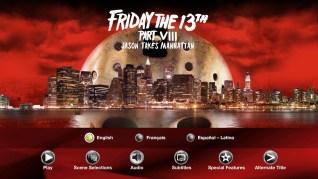 Paramount Pictures Friday the 13th Part VIII: Jason Takes Manhattan Blu-ray Audio Menu