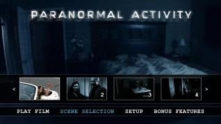 Paranormal Activity Blu-ray Scenes Menu