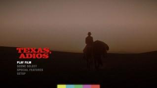 Texas, Adios Blu-ray Menu