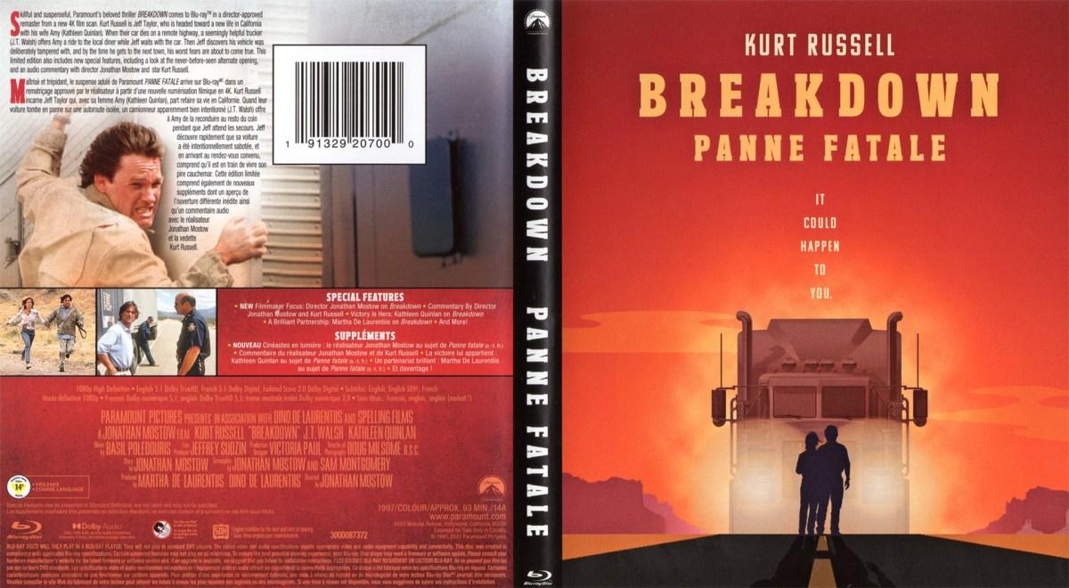 Breakdown Blu-ray Sleeve