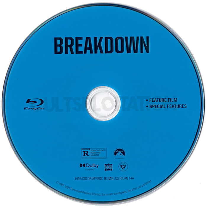 Breakdown Blu-ray Disc