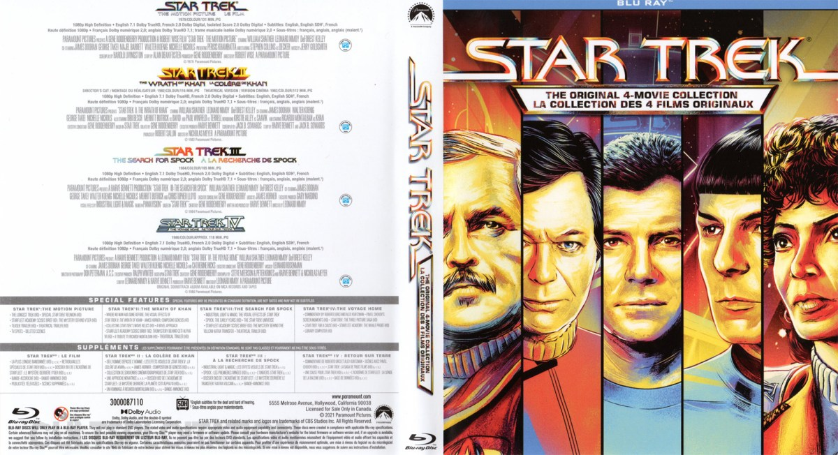 Star Trek: The Motion Picture Blu-ray Sleeve