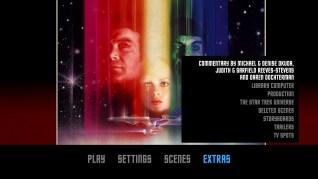 Star Trek: The Motion Picture Blu-ray Extras Menu