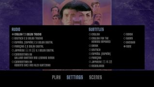 Star Trek IV: The Voyage Home 4K UHD Settings Menu