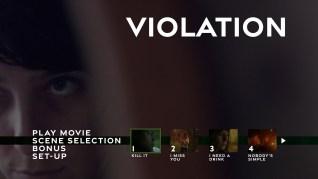 Violation Blu-ray Scenes Menu