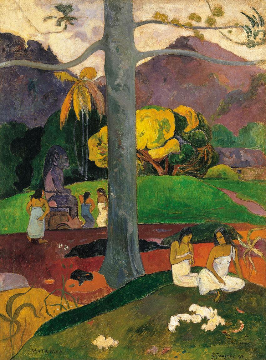 Mata Mua (1892) pintura de Paul Gauguin