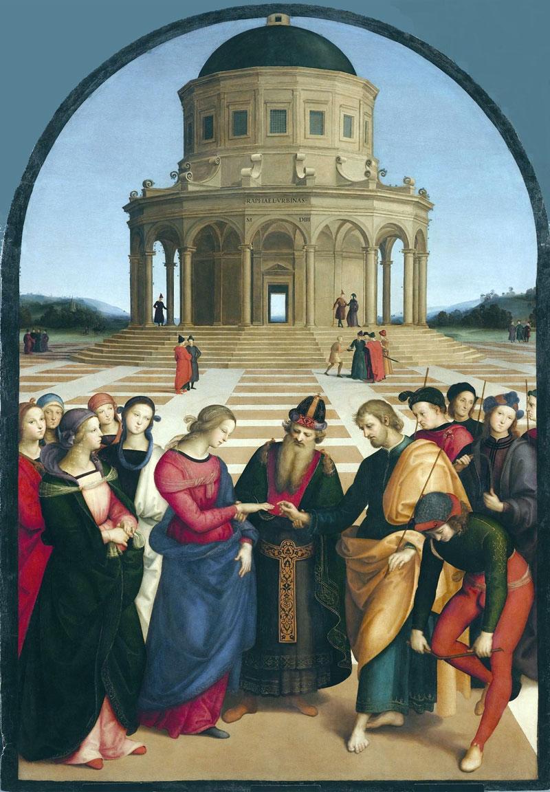 El matrimonio de la Virgen, de Raffaello Sanzio