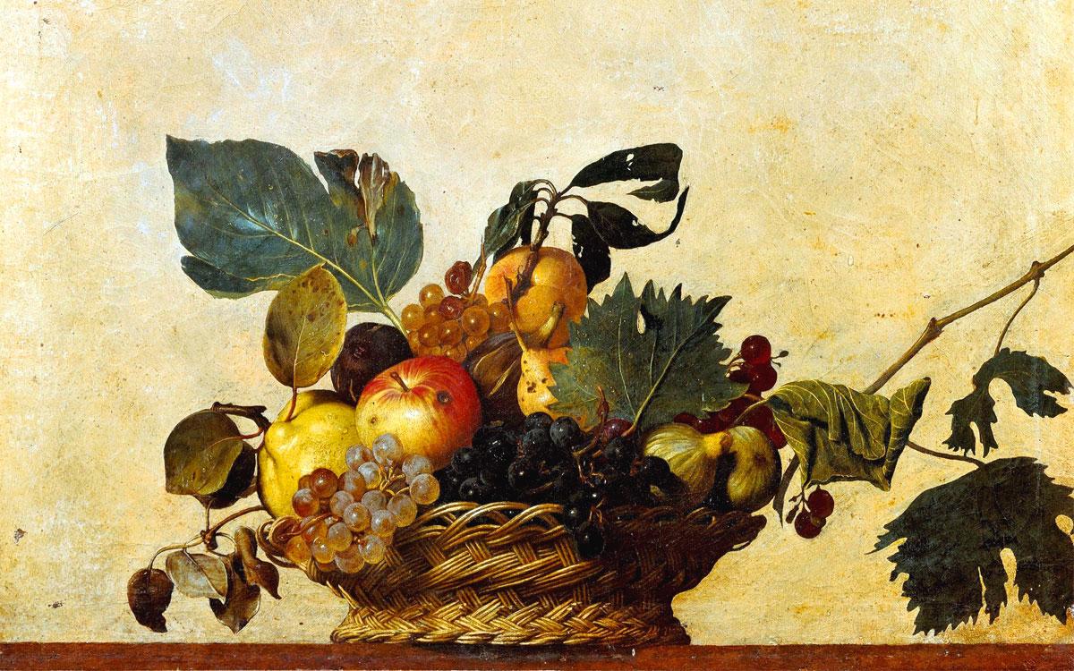 Risultati immagini per caravaggio canestra di frutta