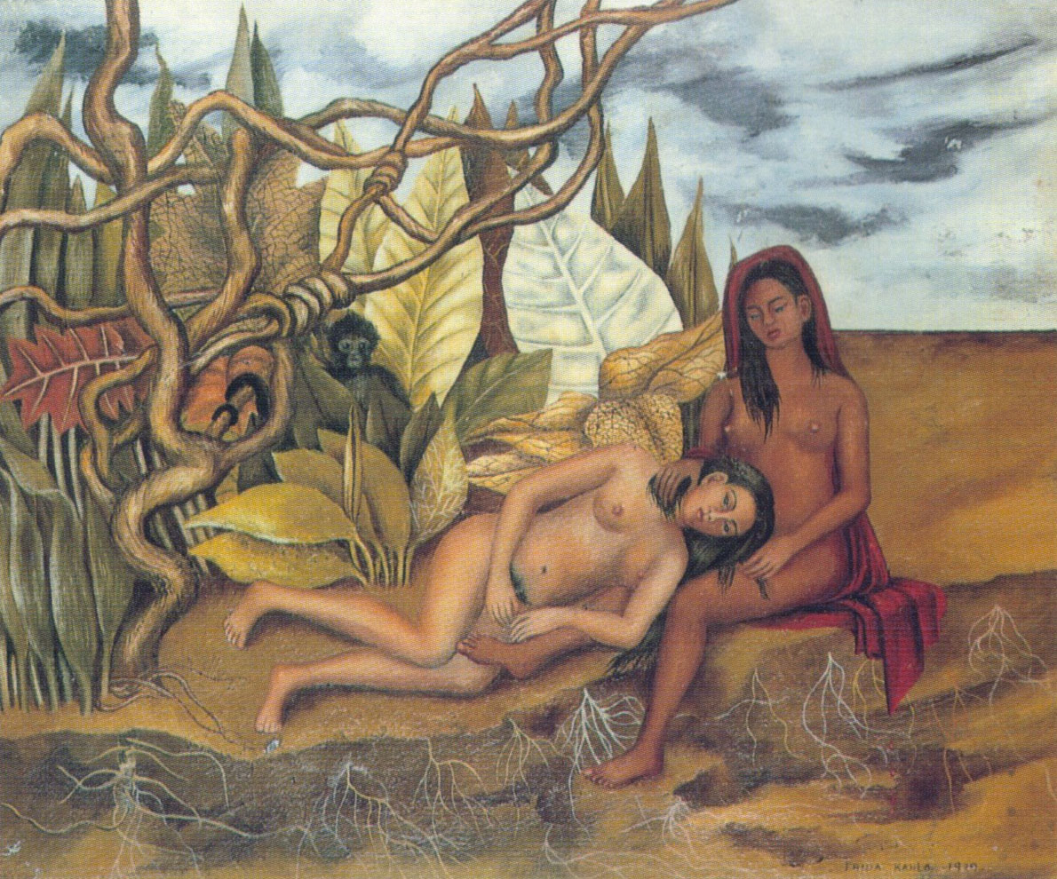 Due nudi nel bosco (Frida Kahlo, 1939)