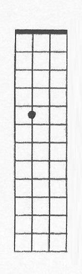A nota ré na quinta casa da corda lá do contrabaixo de Paul McCartney.