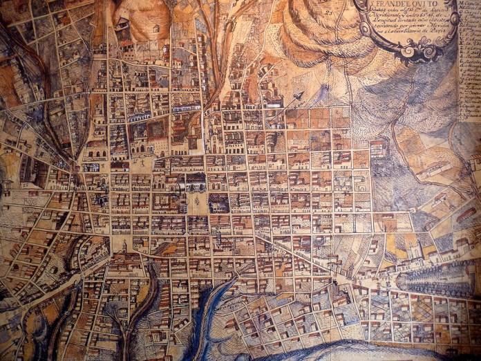 Plano Quito por Pio Montufar