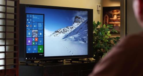 Interfaz de Windows Phone luego de conectarlo a una TV.