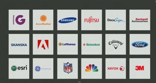 Grandes compañías trabajando con el sistema Azure.