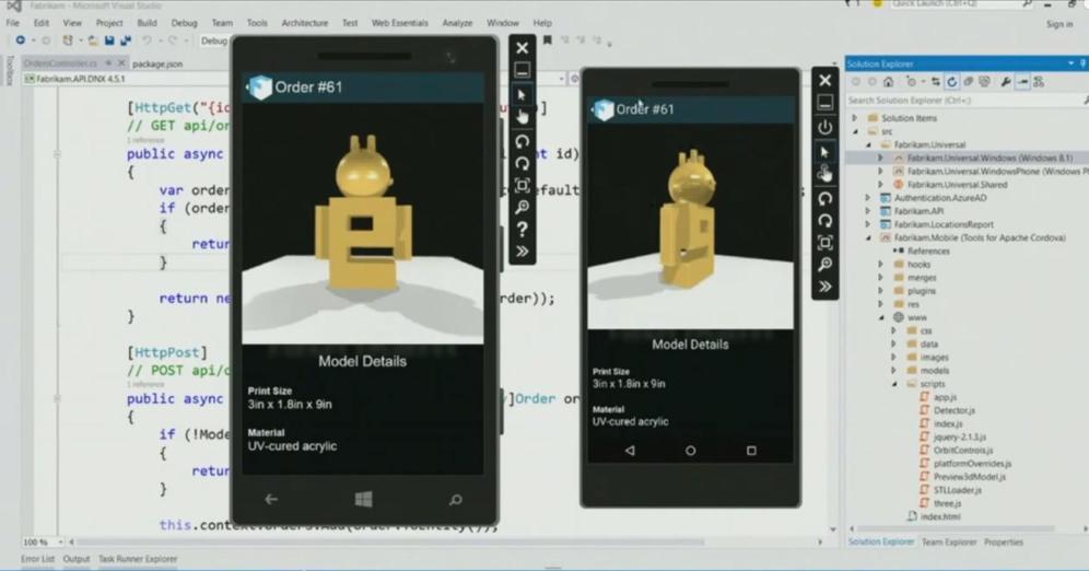Una muestra de desarrollo para celulares con el nuevo Visual Studio, utilizando la nube Azure.