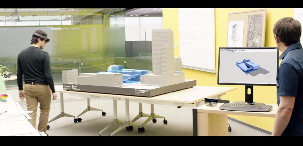 Ejecutando desde la computadora modelos de maquetas.