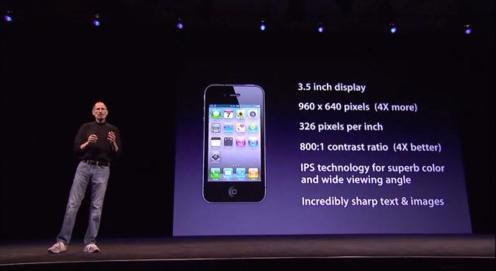 iPhone 4.