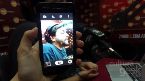 Augusto en la cámara del Huawei