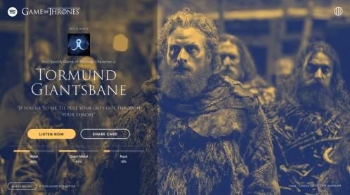 Game of Thrones Cultura Geek GOT Spotify