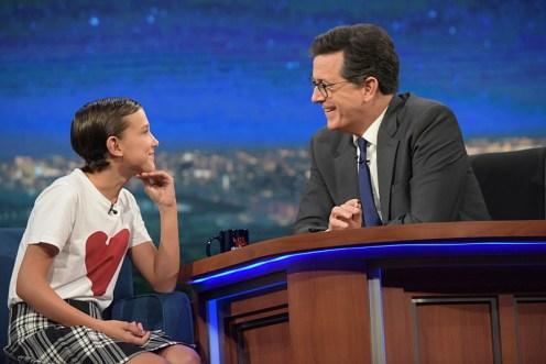 Millie Bobby Brown Stephen Colbert Cultura Geek
