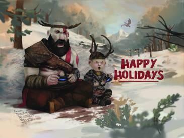 Cultura Geek Navidad PlayStation God of War