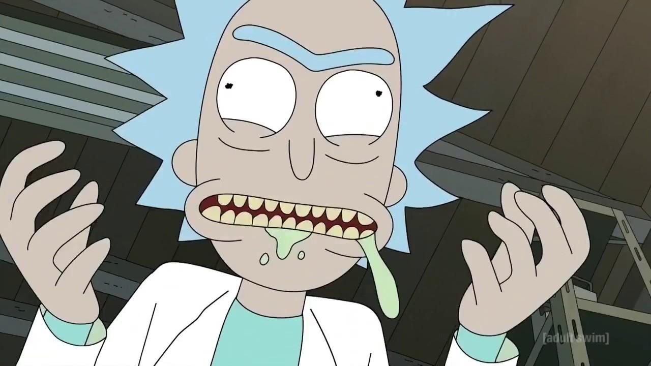 Salsa que sale en Rick y Morty