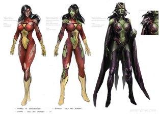 Veranka, la reina de los Skrulls.