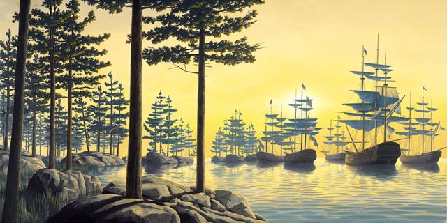 Rob Gonsalves pintura ilusion optica surrealismo 10