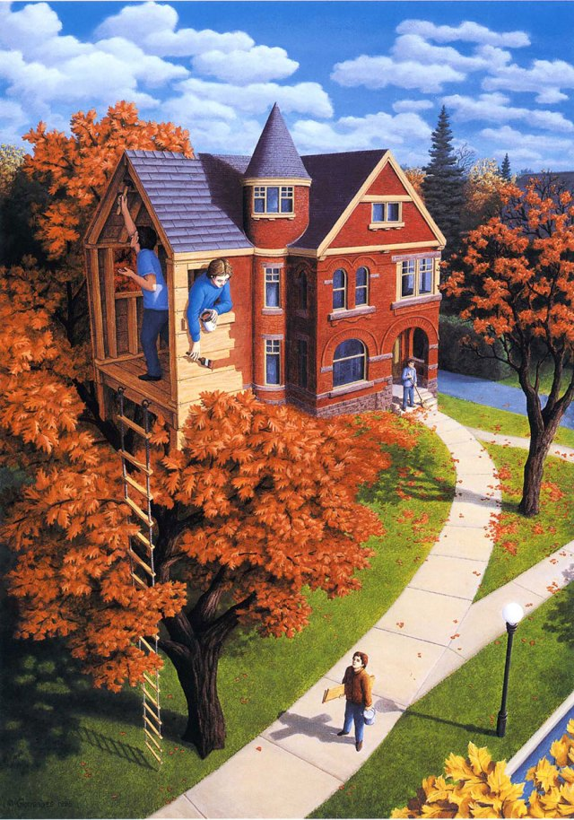 Rob Gonsalves pintura ilusion optica surrealismo 14