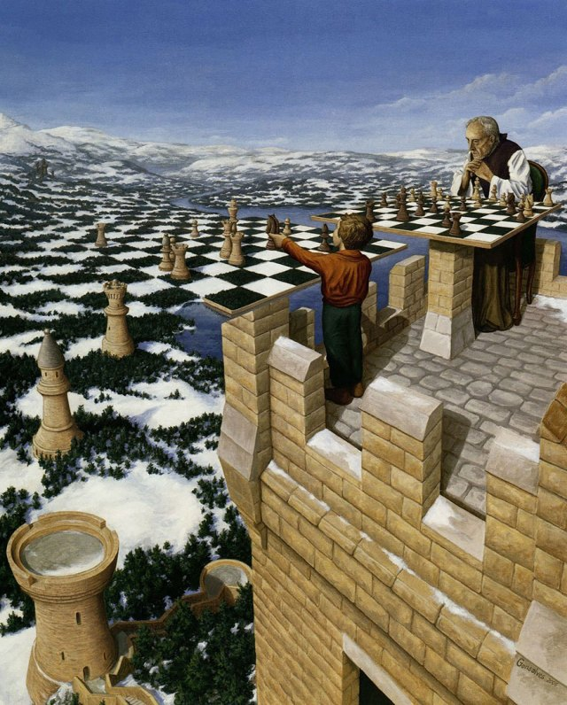 Rob Gonsalves pintura ilusion optica surrealismo 15