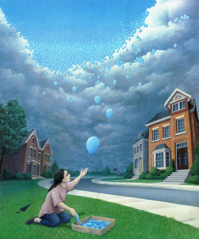 Rob Gonsalves pintura ilusion optica surrealismo 16
