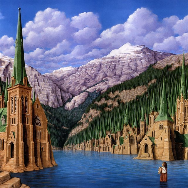 Rob Gonsalves pintura ilusion optica surrealismo 20