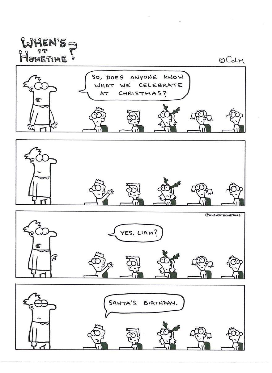 Whens it Hometime humor ilustracion clases 11